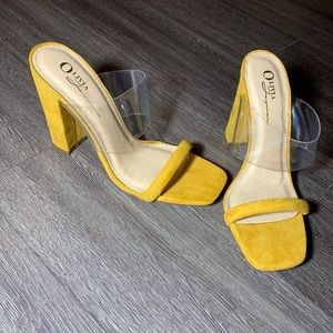 Yellow Clear Strap Richie Heels